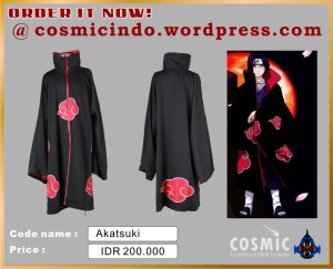 Kostum Cosplay-Naruto Akatsuki-088806003287