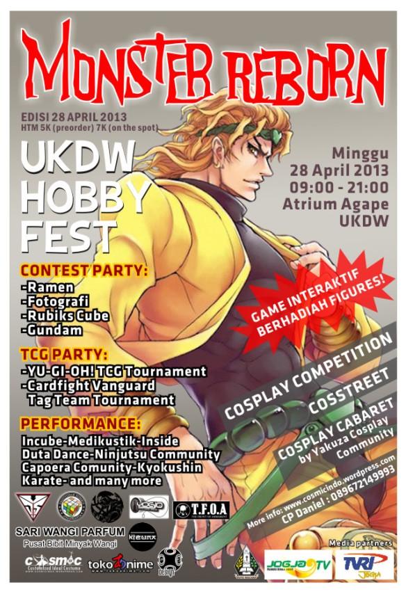Penjahit kostum Cosplay - 088806003287 - Poster UKDW Hobby Fest