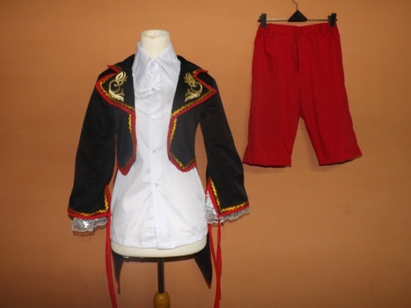 Jual Costum cosplay Vocaloid Kagamine Len ver Sandplay Singing of the Dragon 01