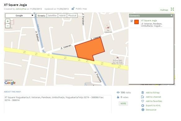 map xt square