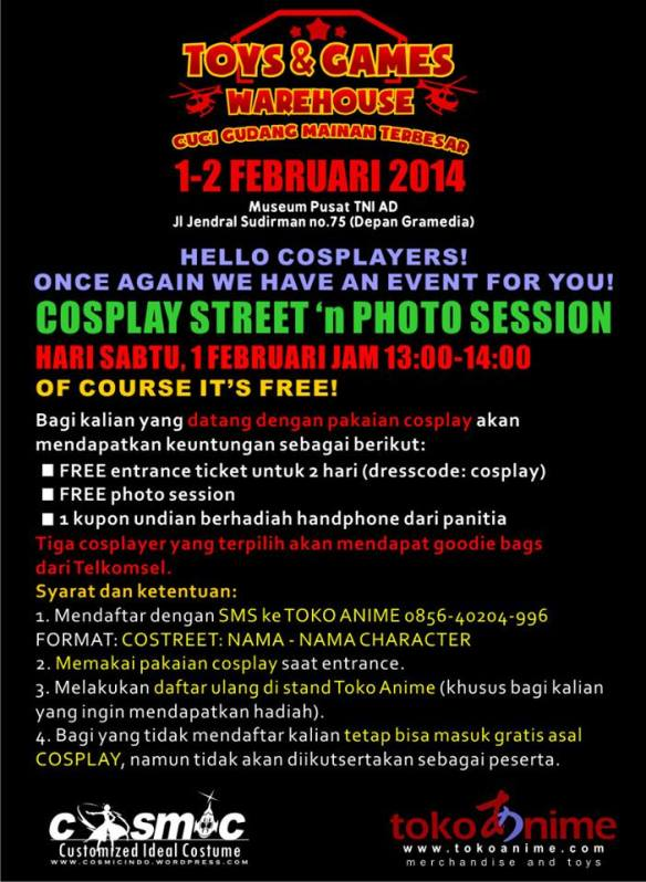 Cosplay Jogja, Lomba Cosplay 2014
